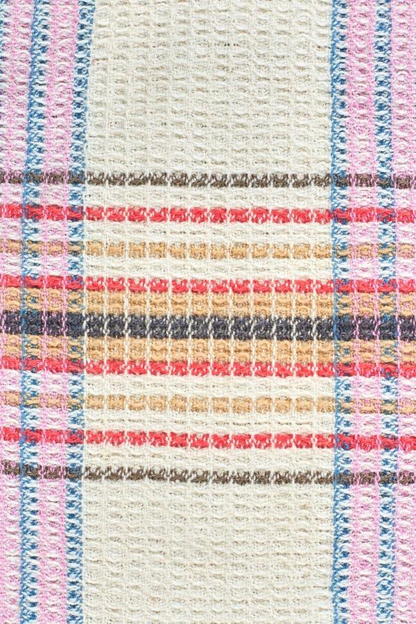 Textura natural del paño de la galleta del algodón imagen de archivo