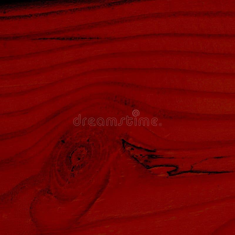 Textura natural do duotone vermelho marrom do close up de madeira, da prancha clara com linhas e de nós redondos quadrado Fundo p foto de stock royalty free