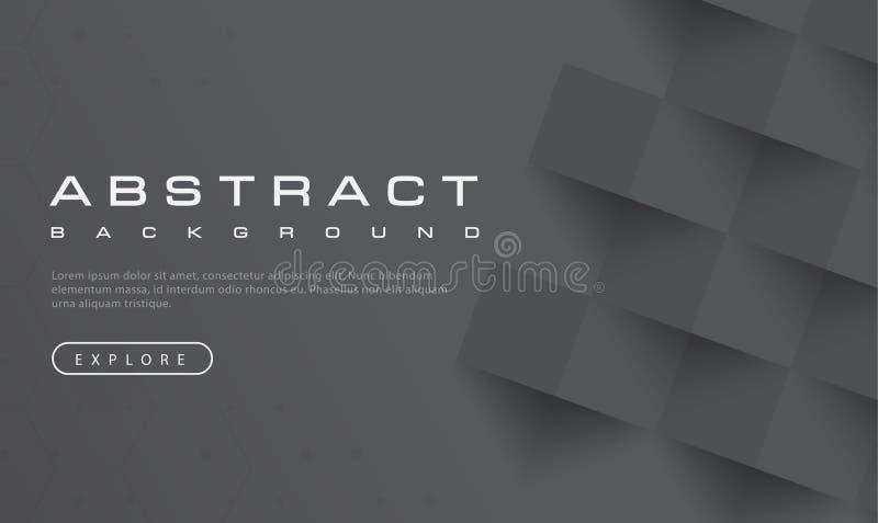 Textura negra abstracta del fondo, haber texturizado negro, fondos de la bandera, ejemplo del vector libre illustration