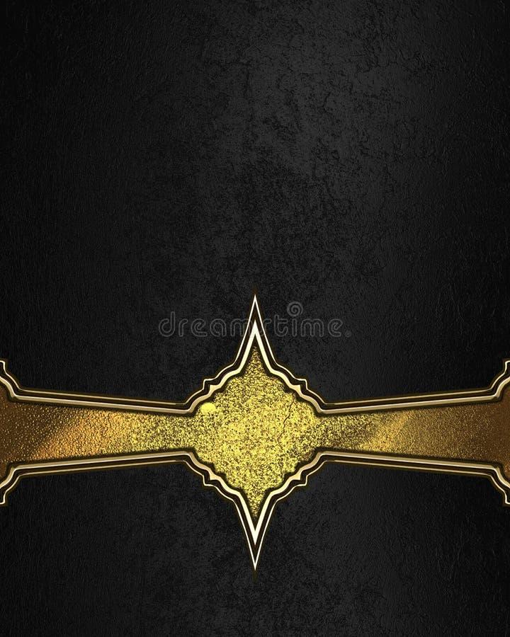 Textura negra con la decoración amarilla Elemento para el diseño Plantilla para el diseño copie el espacio para el folleto del an stock de ilustración