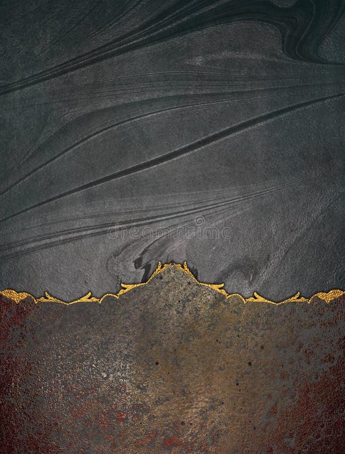 Textura negra con la parte inferior del grunge Plantilla para el diseño copie el espacio para el folleto del anuncio o la invitac stock de ilustración