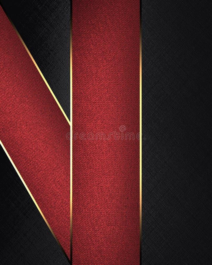 Textura negra con las rayas rojas Plantilla para el diseño copie el espacio para el folleto del anuncio o la invitación del aviso libre illustration