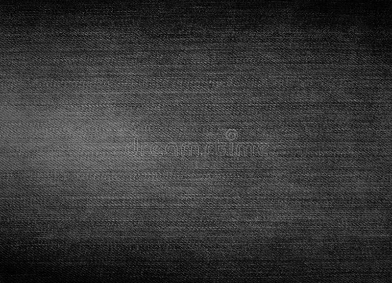 Textura Negra de Denim, Fundo de Jeans, para design fotos de stock
