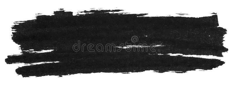 Textura negra de la pintura del marcador ilustración del vector