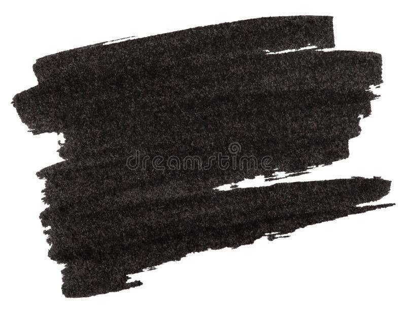 Textura negra de la pintura del marcador stock de ilustración