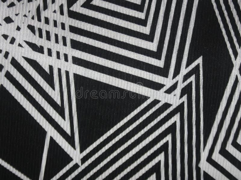 Textura negra de la tela con las líneas blancas angulares imagen de archivo libre de regalías