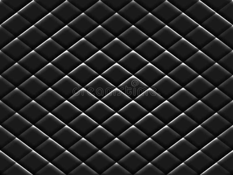 Textura negra del modelo del metal fotos de archivo
