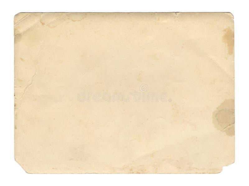 Textura o fondo de papel del marrón del estilo del vintage vieja, con los bordes rasgados desiguales fotos de archivo
