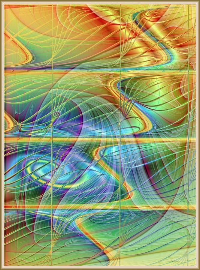 Textura ondulada abstracta del satén stock de ilustración