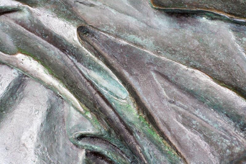 Textura ondulada de bronce Fondo imágenes de archivo libres de regalías