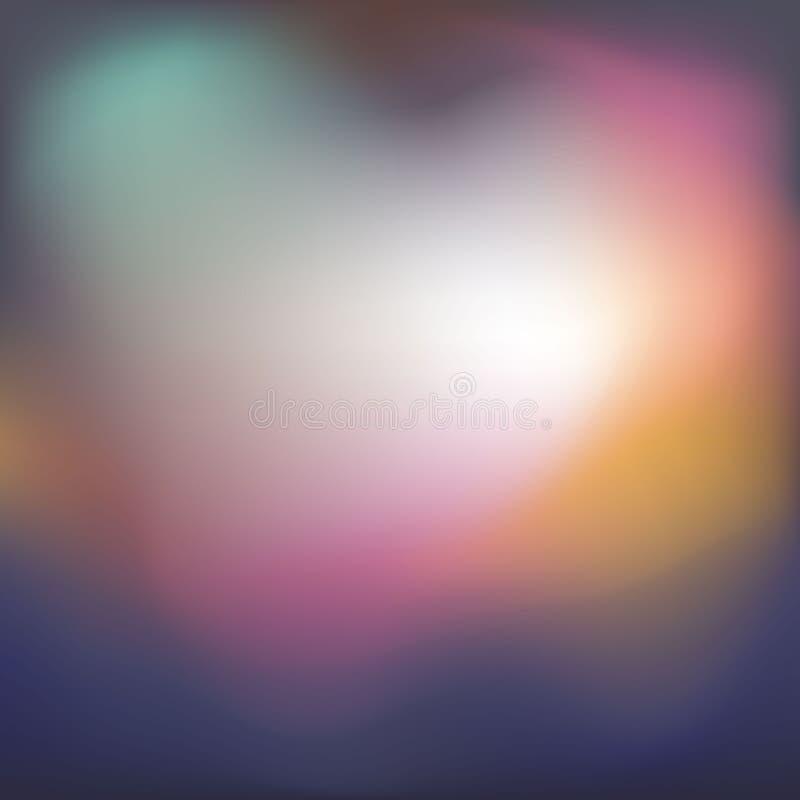 Textura ondulada lisa borrosa del flujo de la pendiente de la paleta de colores amarilla azul rosada suave stock de ilustración