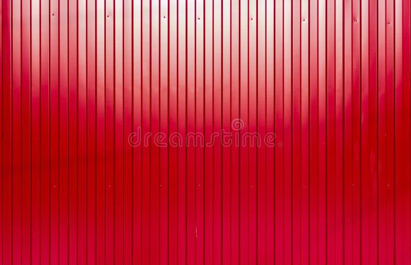 Textura ondulada pintada vermelho da chapa met lica foto - Chapa metalica ondulada ...