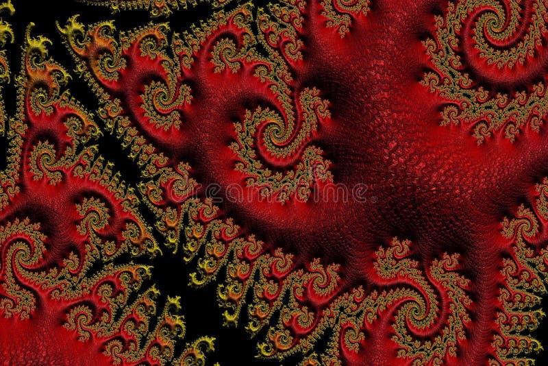 Textura oriental abstracta del rojo y del oro fotos de archivo libres de regalías