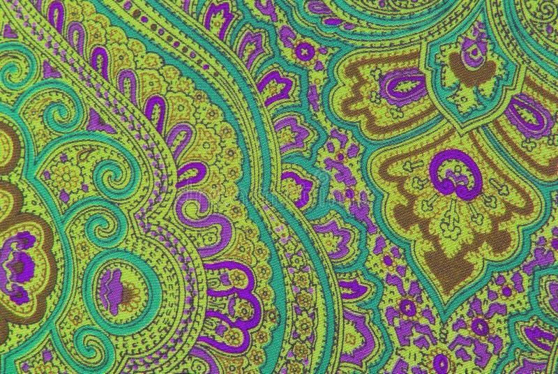 Textura ornamental floral de la tela fotos de archivo