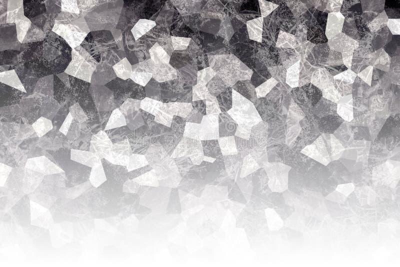 Textura oscura agrietada Superficie negra con los rasguños abstraiga el fondo Papel pintado del mosaico libre illustration