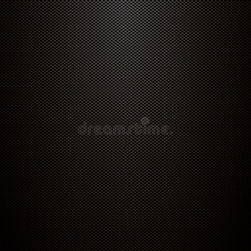 Textura oscura de la fibra de carbono del vector Fondo industrial abstracto del metal negro libre illustration