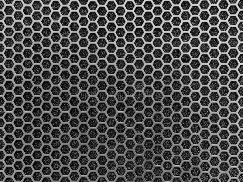 Textura oscura de la malla metálica fotografía de archivo