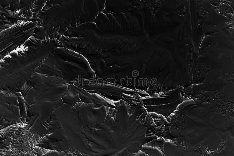 Textura oscura del hielo de la grieta foto de archivo libre de regalías