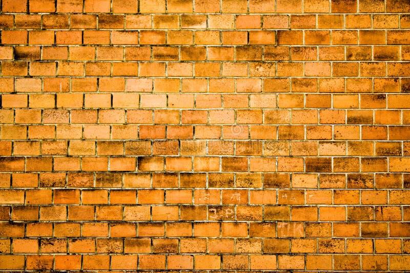 Textura ou fundo alaranjado da parede de tijolo a projetar imagem de stock