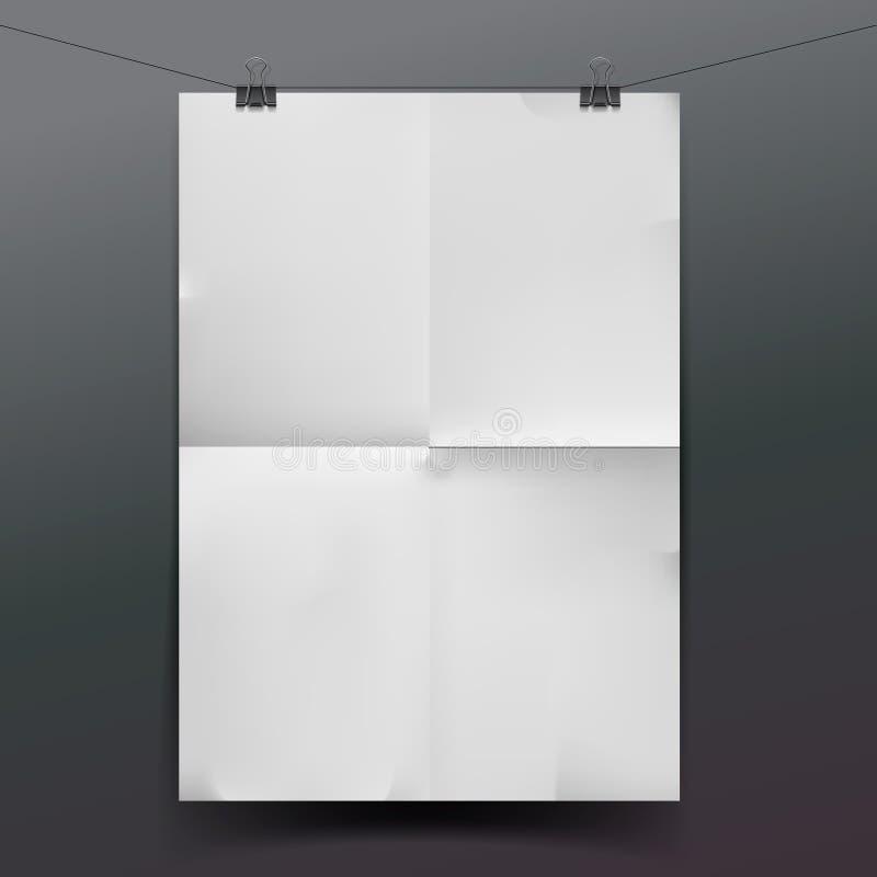 Textura ou fundo do Livro Branco ilustração royalty free