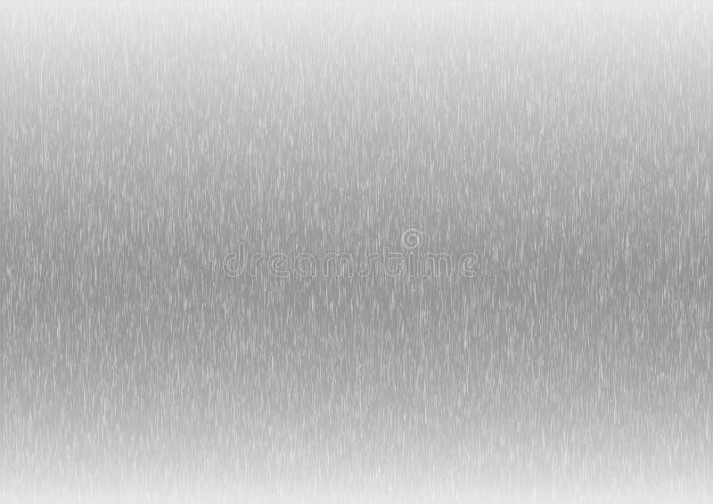 A textura ou o fundo formaram escuro e claro - inoxidável metálico dos olhares do cinza ilustração stock