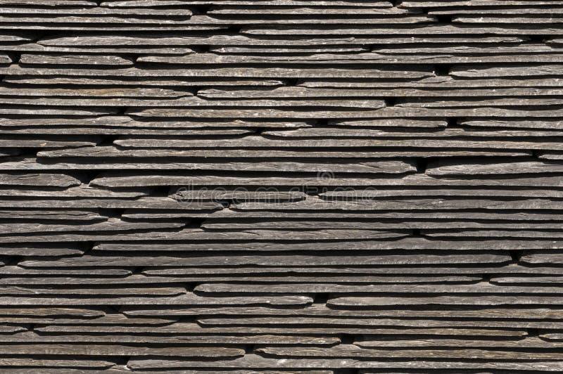 Textura ou teste padrão empilhado da ardósia para telhas imagem de stock