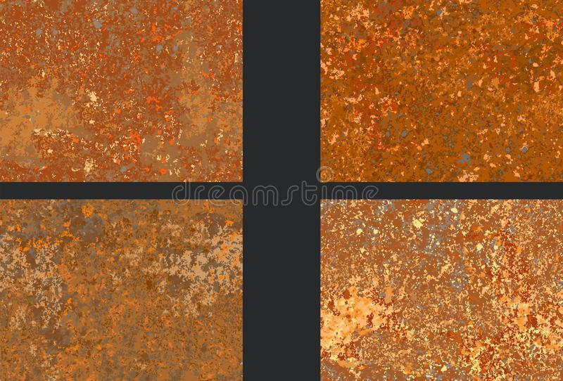 Textura oxidada ajustada da corrosão, imitação da oxidação ilustração royalty free