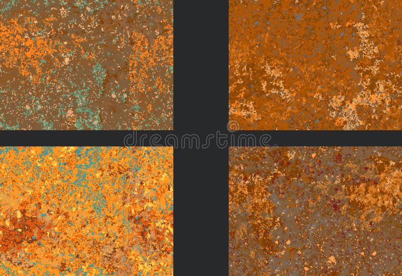 Textura oxidada ajustada da corrosão, imitação da oxidação ilustração do vetor