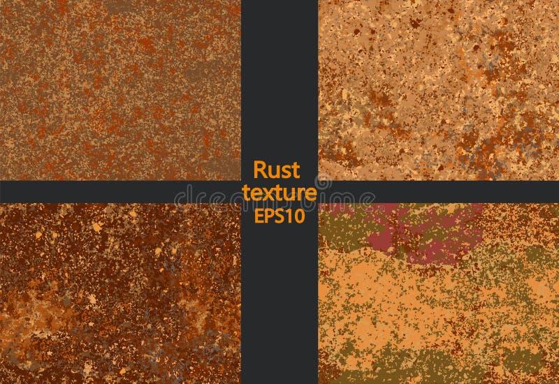 Textura oxidada ajustada da corrosão, imitação da oxidação ilustração stock