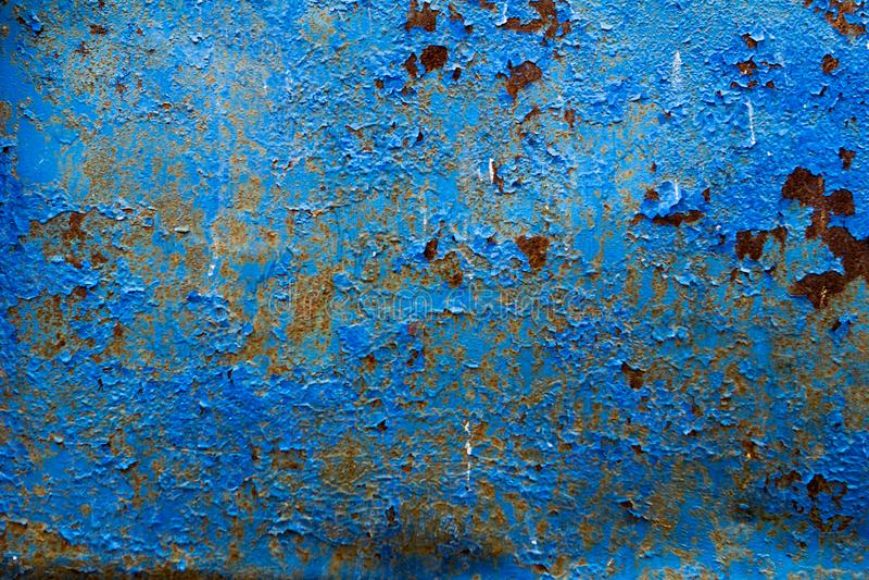 Textura oxidada azul del fondo de la textura del metal foto de archivo