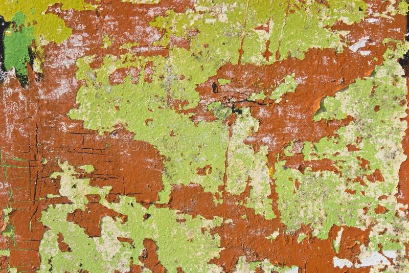 Textura oxidada colorida del metal imagen de archivo