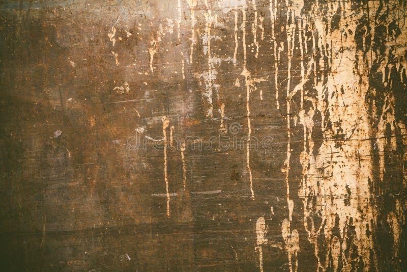 Textura oxidada com pintura do gotejamento fotografia de stock