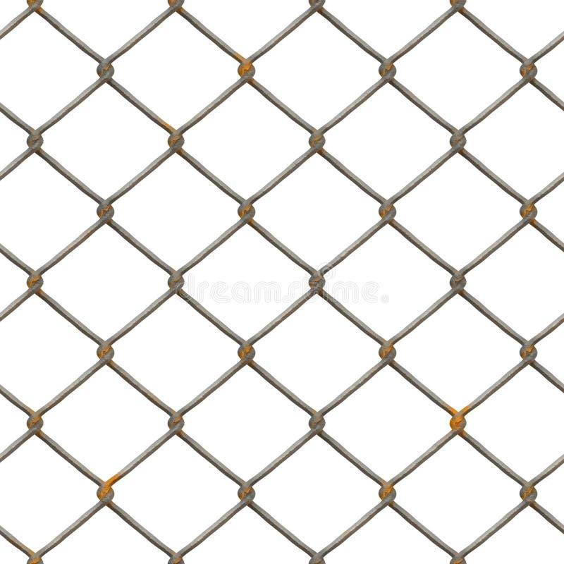 Textura oxidada de la cerca (rendida) stock de ilustración