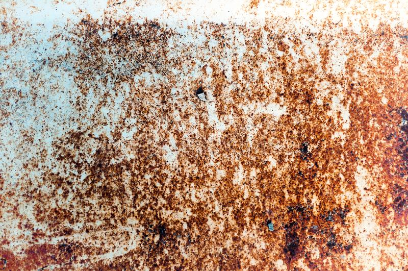 Textura oxidada del metal, viejo fondo del moho del hierro del metal fotos de archivo libres de regalías
