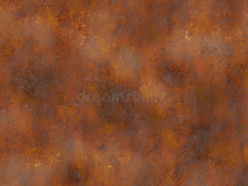Textura oxidada do metal. fundos pintados ilustração royalty free