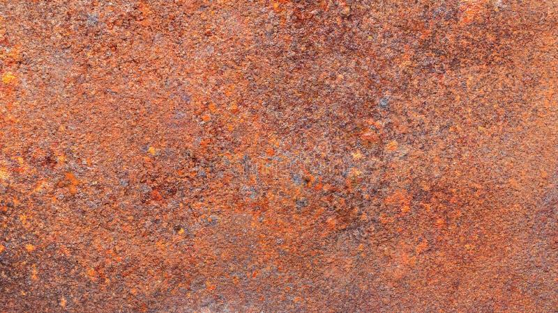 Textura oxidada do metal ou fundo oxidado para a decoração exterior interior e o projeto de conceito industrial da construção imagens de stock royalty free