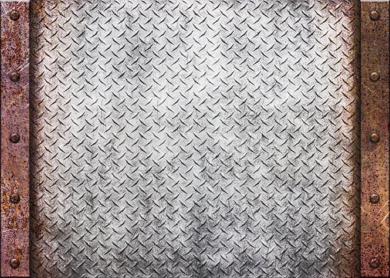 Textura oxidada do metal - textura velha metálica, 3d do grunge ilustração stock