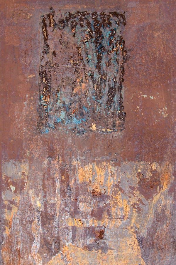 Textura oxidada e riscada do metal foto de stock royalty free