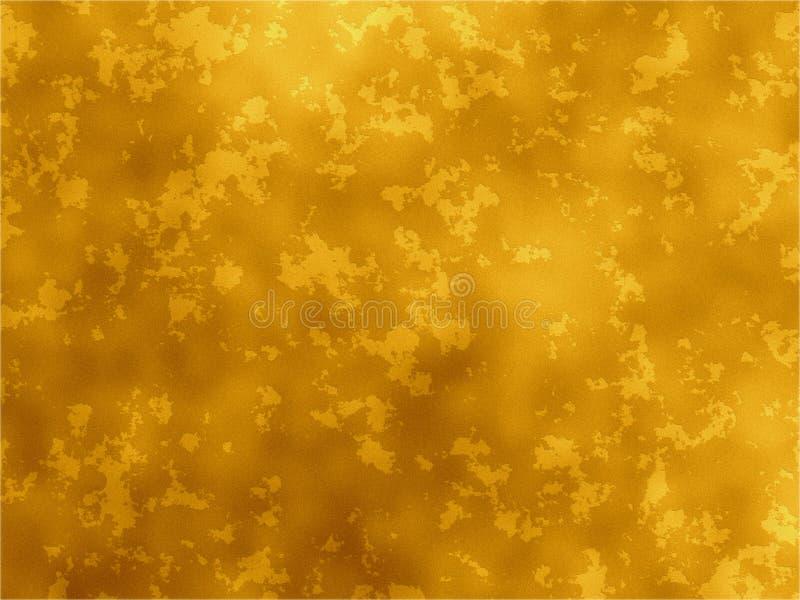 Textura oxidada - ouro ilustração royalty free