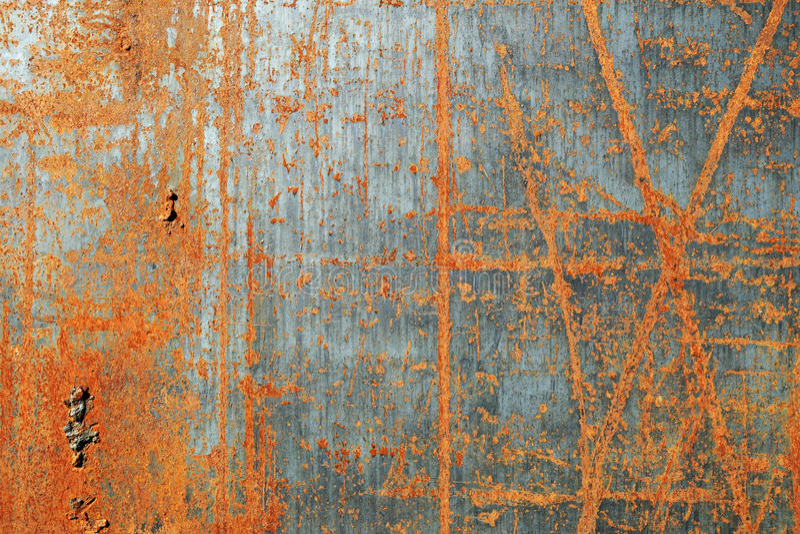 Textura oxidada riscada do metal fotografia de stock