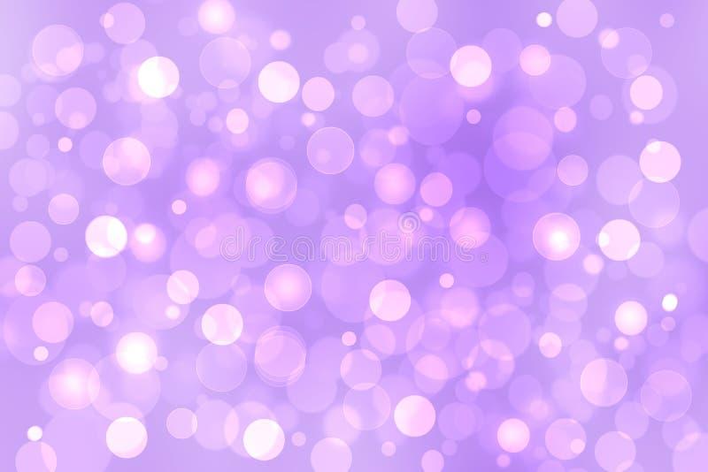 Textura púrpura del fondo del rosa de la pendiente del extracto con los círculos y las luces borrosos del bokeh Espacio para el d ilustración del vector