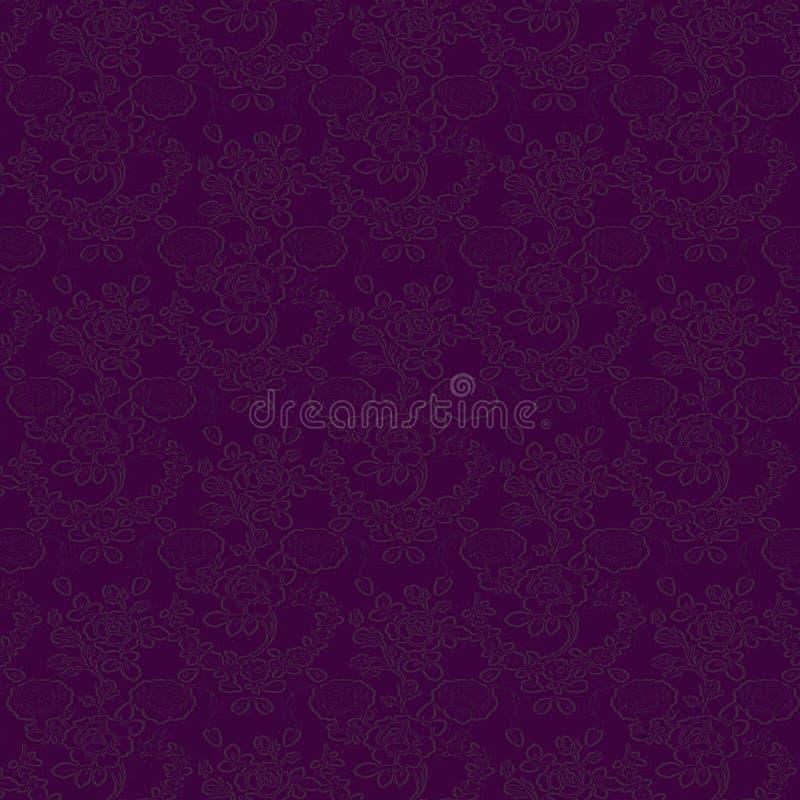 Textura púrpura oscura del terciopelo stock de ilustración