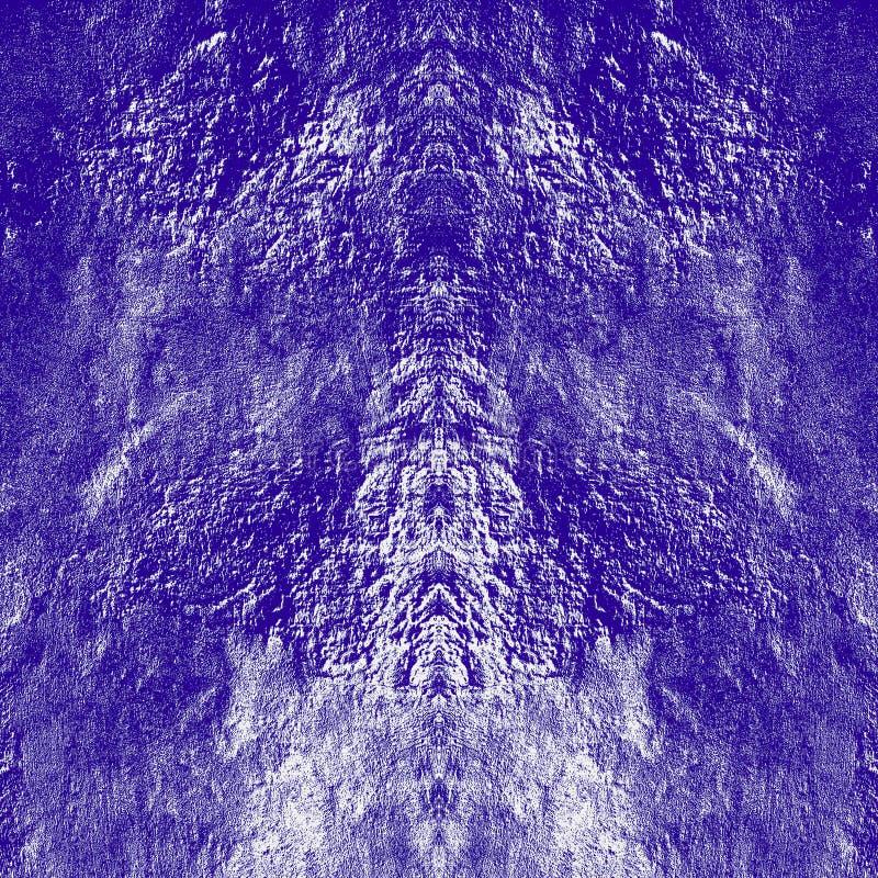 Textura púrpura oscura verticalmente simétrica del Grunge Modelo cubierto resistido oscuridad en fondo cuadrado ilustración del vector