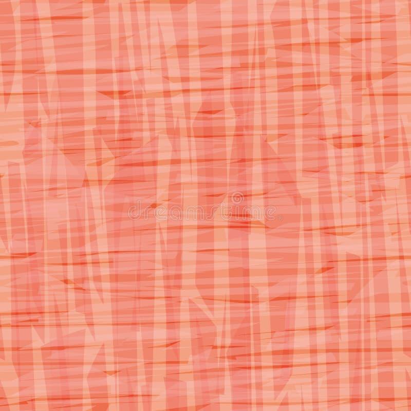 Textura painterly anaranjada y rosada abstracta del efecto de la lona Modelo inconsútil del vector con formas transparentes Perfe libre illustration
