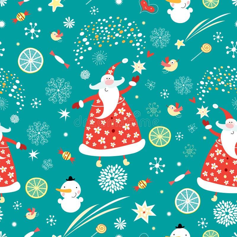 Textura Papai Noel ilustração stock