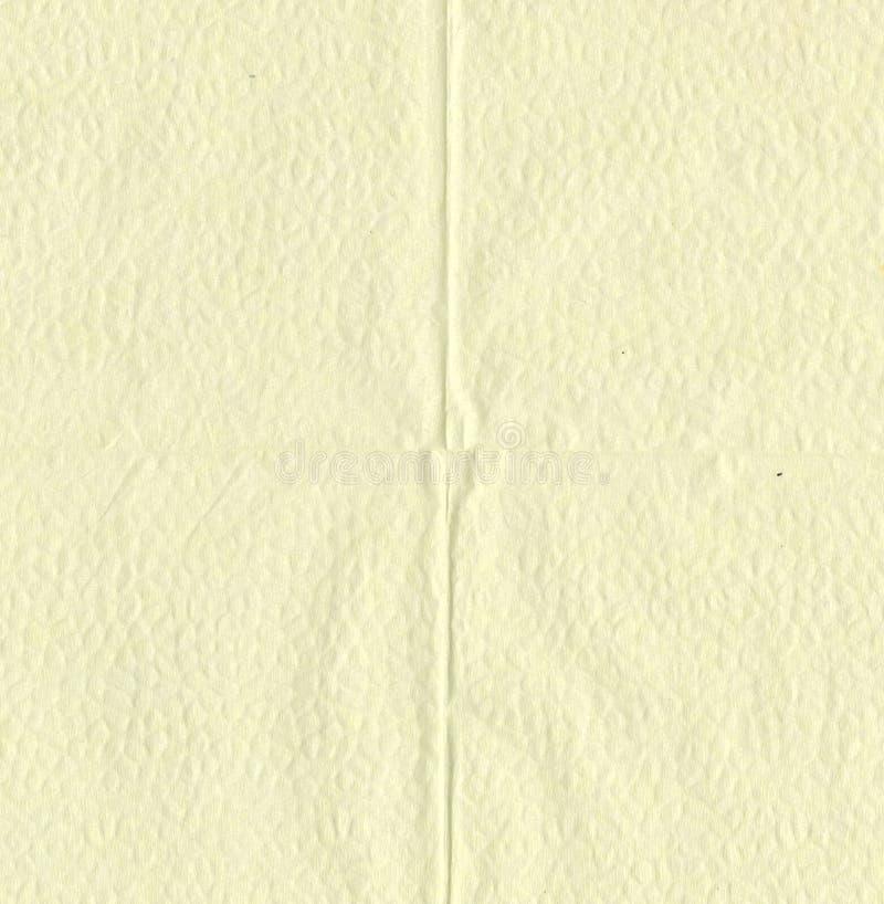 Textura - papel higiénico amarillo suave grabado en relieve imágenes de archivo libres de regalías