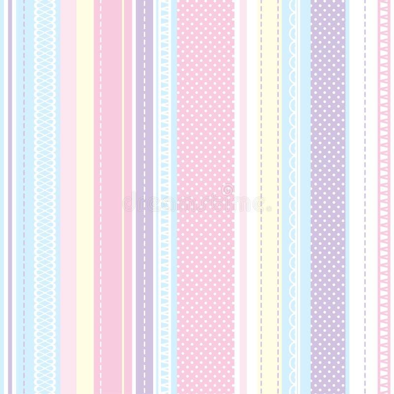 Textura para las materias textiles BEBÉ del modelo de la materia textil libre illustration
