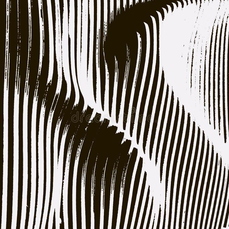 Textura paramétrica da onda do preto e do wite ilustração do vetor