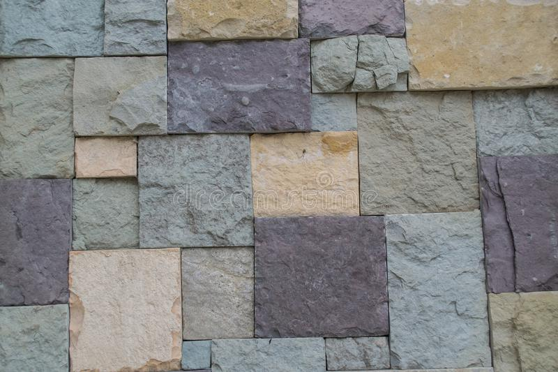 Textura Pared de piedra multicolora Fondo fotografía de archivo libre de regalías