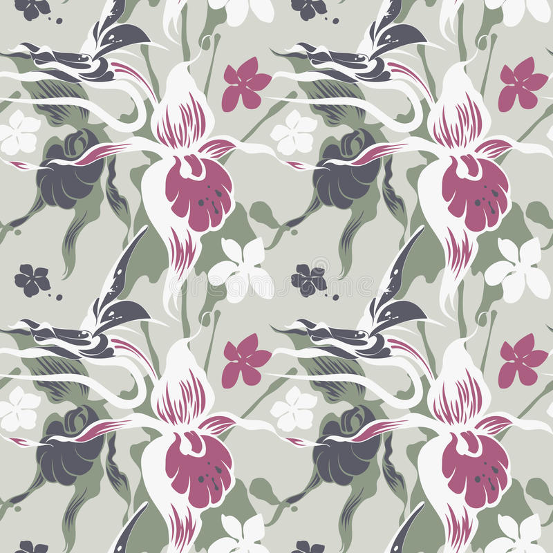 Textura pastel das orquídeas ilustração royalty free